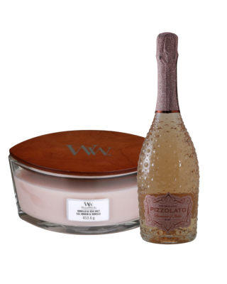 Cadeauset Woodwick & Wine - Rosé Medium
